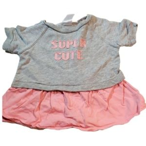 Carter's Baby's Clothing Dress Grey & Pink